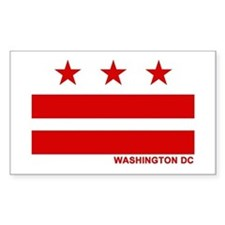 Washington DC Flag Rectangle Decal