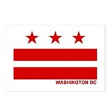 Washington DC Flag Postcards (Package of 8)