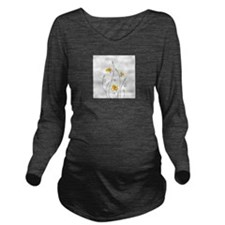 Paper Butterflies Long Sleeve Maternity T-Shirt