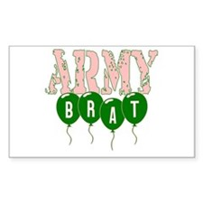 army brat Rectangle Decal