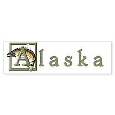 Cute Alaska travel Bumper Sticker