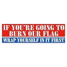 Flag Burner (bumper) Bumper Bumper Sticker