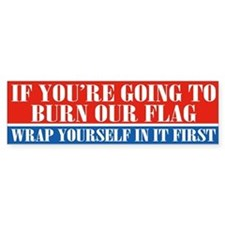 Flag Burner (bumper) Bumper Car Sticker