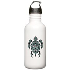 Teal Blue And Black Stainless Water Bottle 1.0l