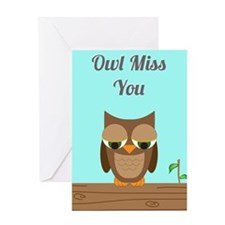 Owl Miss You Greeting Cards