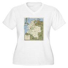 Politic map Colombia T-Shirt