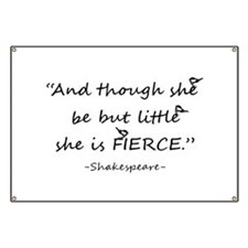 Little but Fierce Shakespeare Quote Cute Chickadee