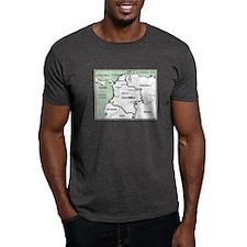 Mapa de Colombia T-Shirt