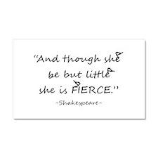 Little but Fierce Shakespeare Quote Cute Chickadee