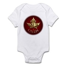 Canada Flag Baby Gold Souvenir Body Suit