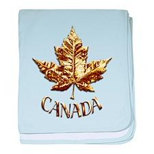 Gold Canada Souvenir baby blanket