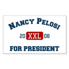 Nancy Pelosi for President Rectangle Decal
