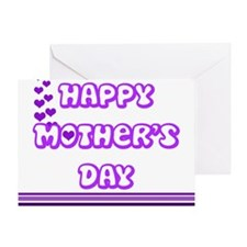 Happy Mothers Day - Purple Greeting Cards