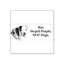 "Cute Ban stupid people Square Sticker 3"" x 3"""