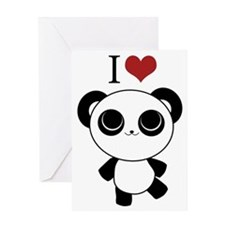 I love panda Greeting Card