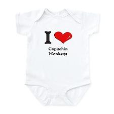 I love capuchin monkeys  Infant Bodysuit