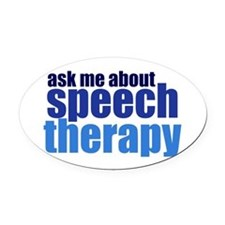 Speech Therapy Oval Car Magnet