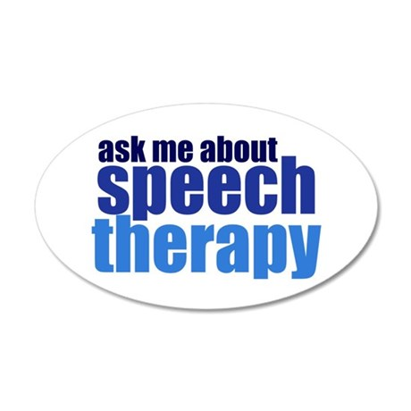 Speech Therapy 20x12 Oval Wall Decal