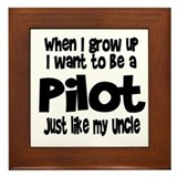 WIGU Pilot Uncle Framed Tile