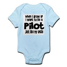 WIGU Pilot Uncle Infant Bodysuit