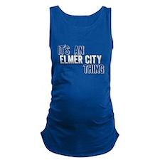 Its An Elmer City Thing Maternity Tank Top