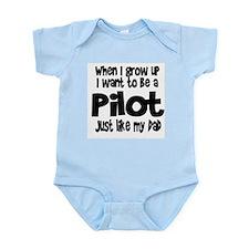 WIGU Pilot Dad Infant Bodysuit