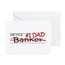 Job Dad Banker Greeting Cards (Pk of 10)