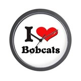 I love bobcats  Wall Clock