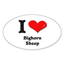 I love bighorn sheep Oval Decal