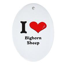 I love bighorn sheep  Oval Ornament
