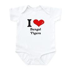I love bengal tigers  Infant Bodysuit