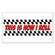FIN-how-i-roll-racing-flag Decal