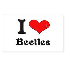 I love beetles Rectangle Decal