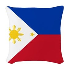 Flag of the Philippines Woven Throw Pillow