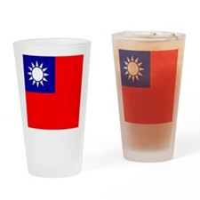 Flag of Taiwan Drinking Glass