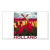 Holland Tulips Rectangle Decal