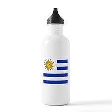 Flag of Uruguay Sports Water Bottle