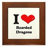 I love bearded dragons  Framed Tile