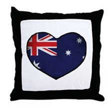 Australian Heart Throw Pillow