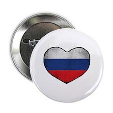 """Russian Heart 2.25"""" Button"""