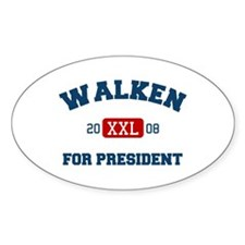 Walken for President Oval Decal