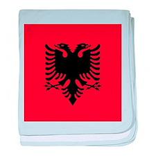 Flag of Albania baby blanket