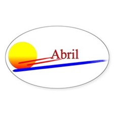 Abril Oval Decal