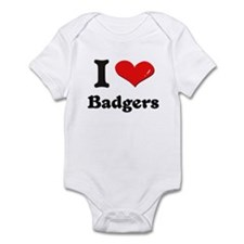 I love badgers  Infant Bodysuit