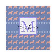 Fun Dog Design Monogram Queen Duvet