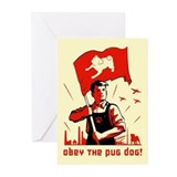Pug Patriotism Greeting Cards (Pk of 10)
