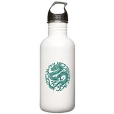 Traditional Teal Blue Stainless Water Bottle 1.0l