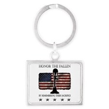 Honor The Fallen Landscape Keychain