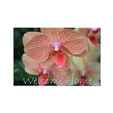 Welcome Home Orchids Rectangle Magnet