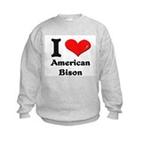 I love american bison Sweatshirt